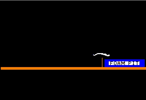 Microsoft Decathlon Apple II The high jump