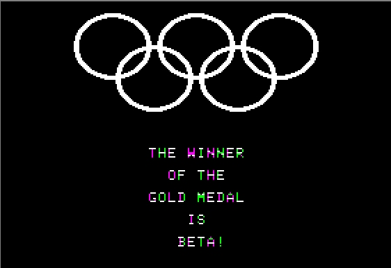 Olympic Decathlon Apple II Winning the Gold Medal