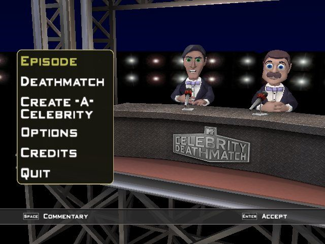 MTV Celebrity Deathmatch Windows Main menu