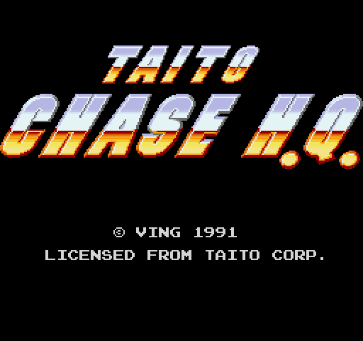 Chase H.Q. FM Towns Title screen