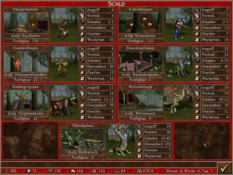 Heroes of Might and Magic III: The Restoration of Erathia Windows Each town type has a different set of creatures
