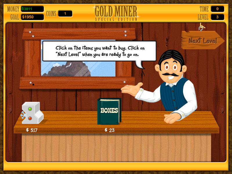 Gamefam: casual game review: gold miner special edition.