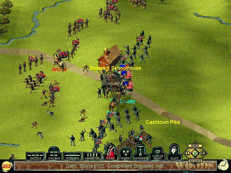 Sid Meier's Gettysburg! Windows Battle for Bellmont Schoolhouse