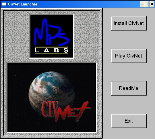 Sid Meier's CivNet Windows 3.x Autorun installation screen