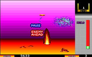 Xyphr DOS 'P' pauses the game.