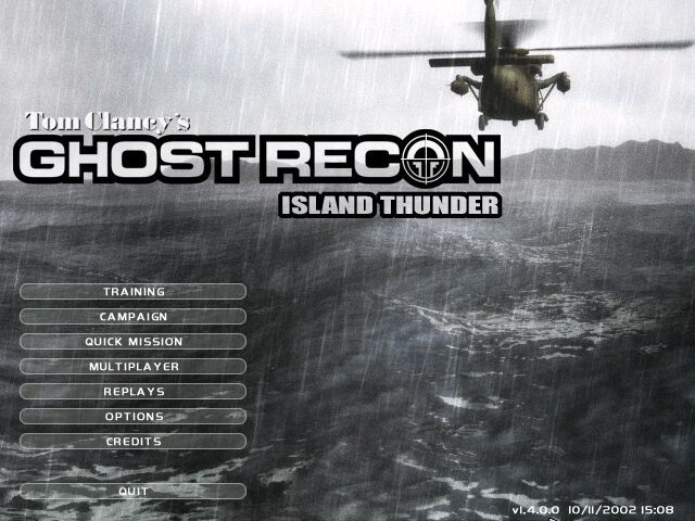 Tom Clancy's Ghost Recon: Island Thunder Windows The title screen.