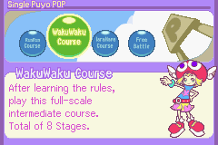 Puyo Pop Fever Game Boy Advance Select a course