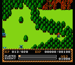 Ys: The Vanished Omens NES Mountain cave ahead