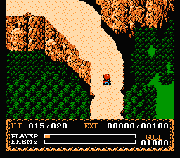 Ys: The Vanished Omens NES On a mountain path