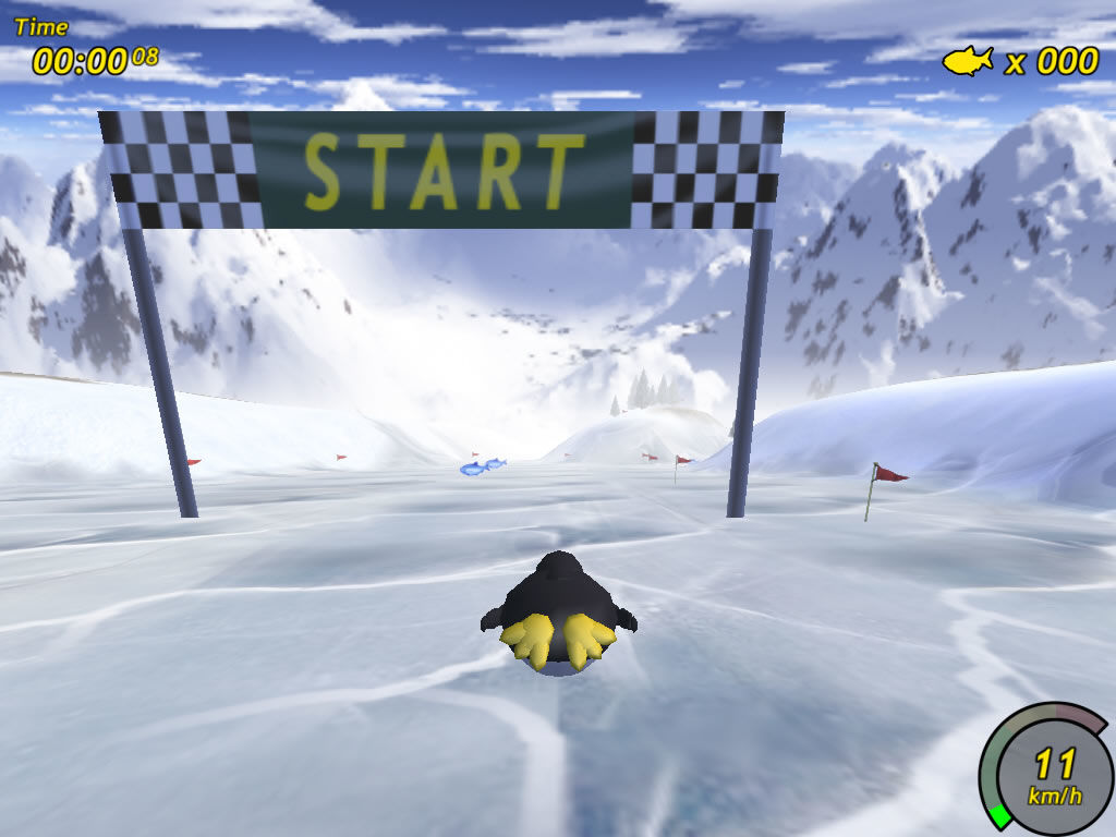 Tux Racer Windows Starting the race