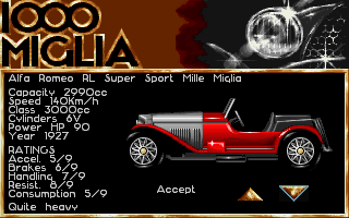 1000 Miglia DOS Choose your car...look at that beaut!