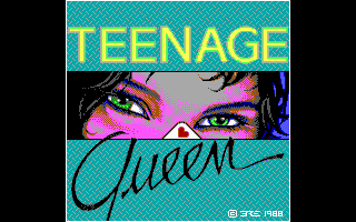 Teenage Queen DOS Title Screen