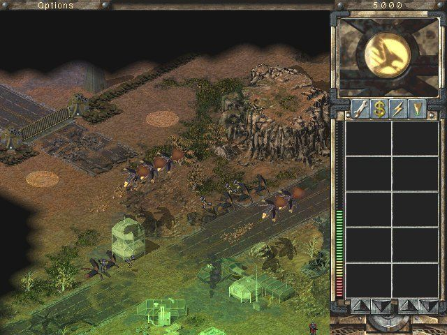 Command & Conquer: Tiberian Sun Windows First, somewhat introductory, mission with GDI. Note that in lower resolution you'll see less items on the right production bar.