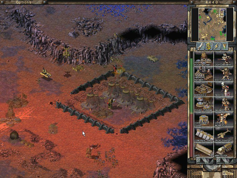 Command & Conquer: Tiberian Sun Windows The entire base is stealth thanks to the captured Nod stealth generator.