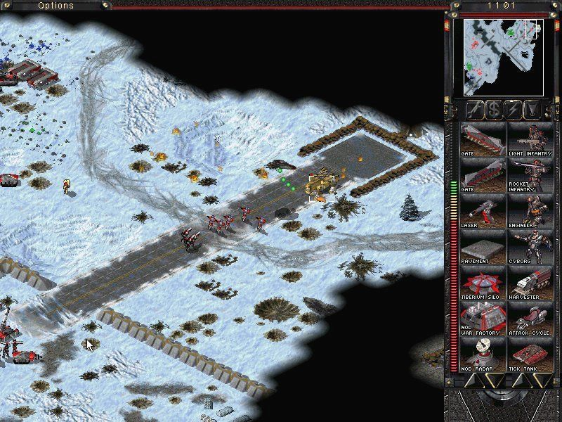 Command & Conquer: Tiberian Sun Windows Nod forces against the GDI prototype walking tank, Mammoth Mk II.