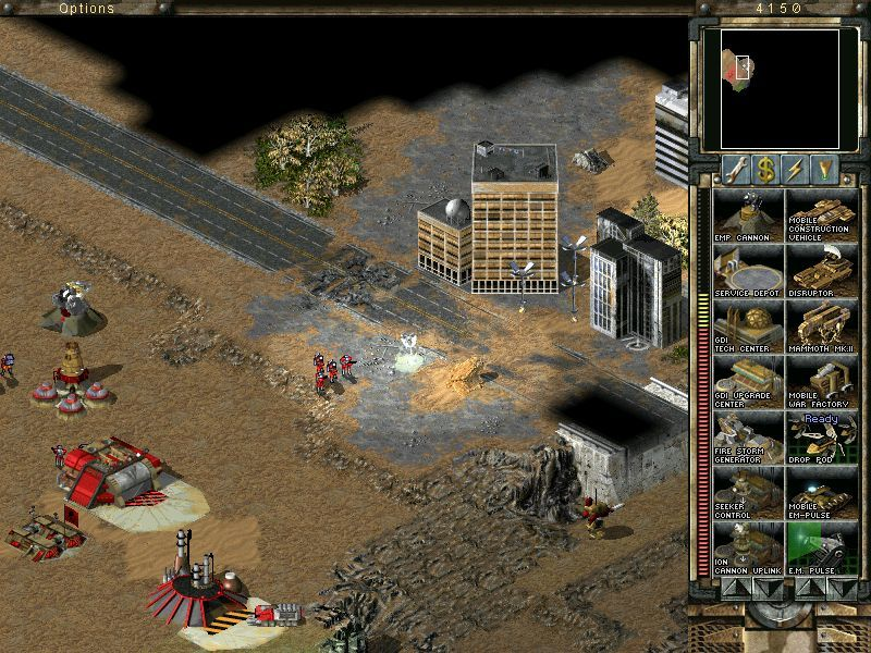 Command & Conquer: Tiberian Sun - Firestorm Windows First 2-4 players multiplayer map, here are buildings just for aesthetical purpose, you cannot enter nor fortify them.
