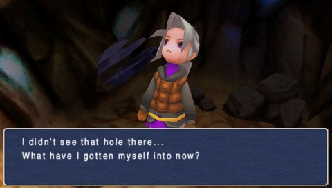 Final Fantasy III PSP Luneth fell into a cave