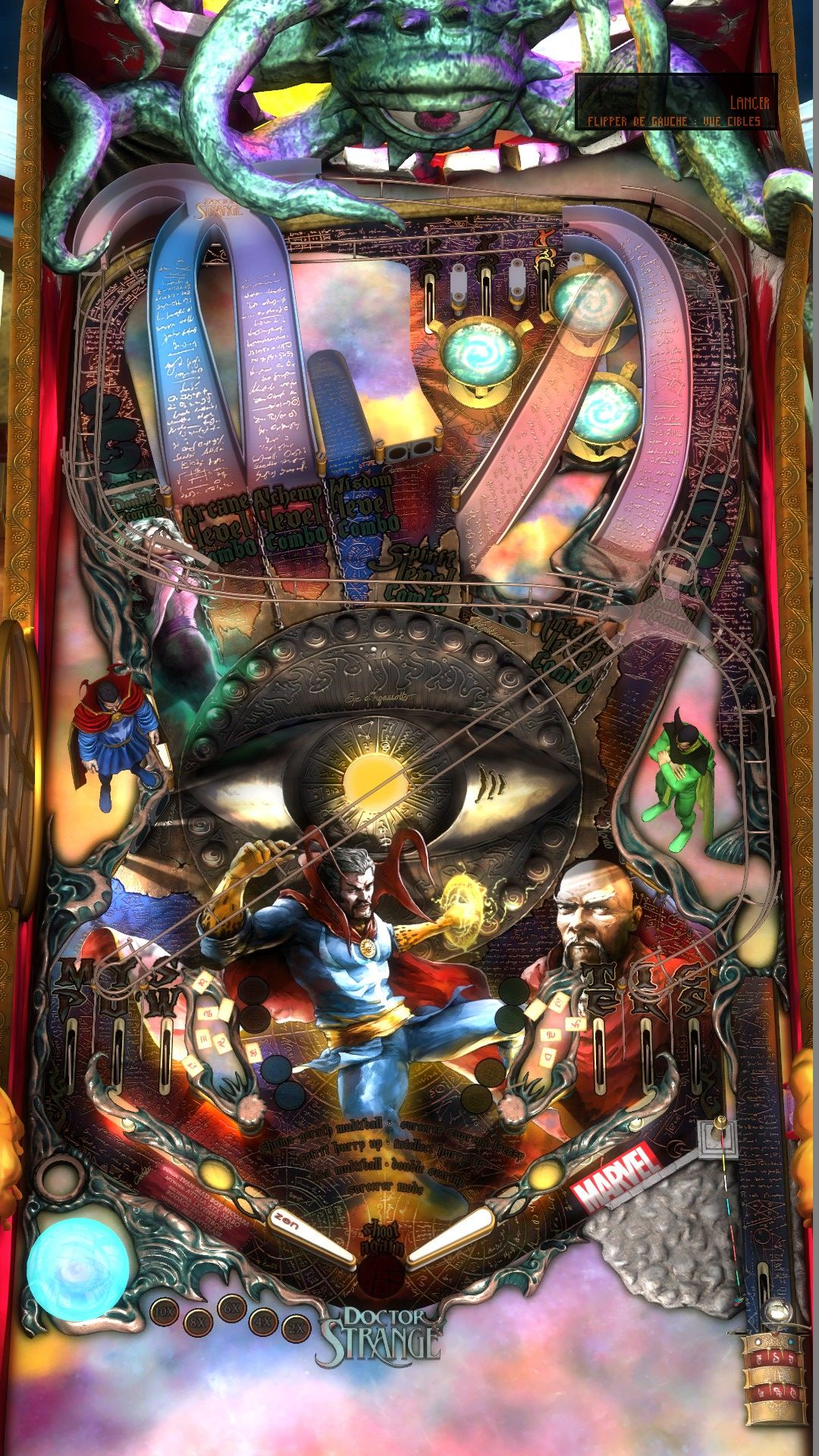 Gottlieb King of Diamonds. View from the top of the ... |Pinball Top View