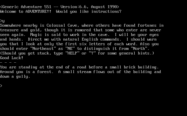 Generic Adventure 551 Screenshots For Dos Mobygames