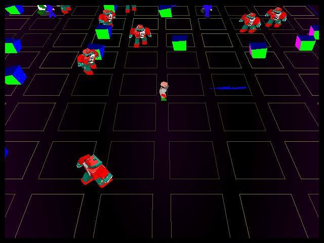 Robotron X Windows This is level five. Here there are obstacles and 'Insidious Brains' to deal with. Demo version