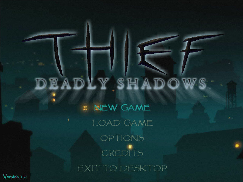 Thief: Deadly Shadows Windows Main menu
