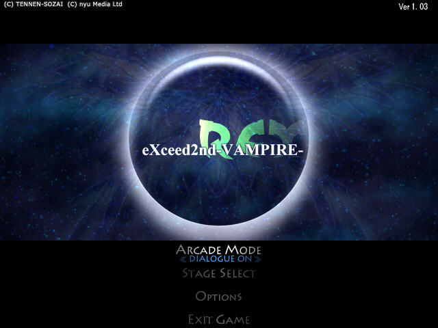 eXceed2nd-VAMPIRE-REX Windows Title screen
