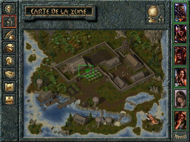 Baldur's Gate: Tales of the Sword Coast Windows Map of a new island.