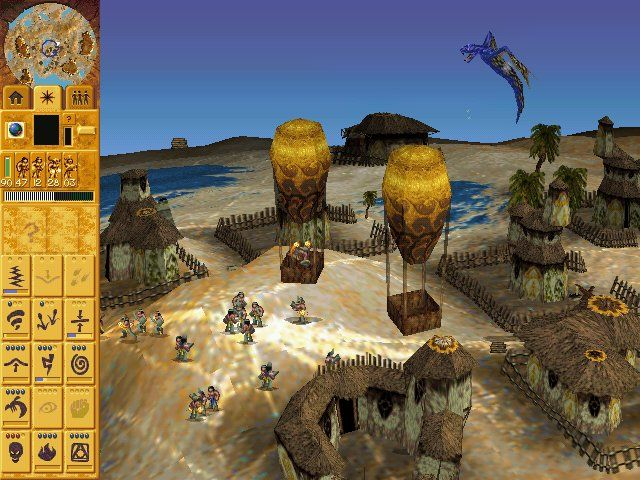 Populous: The Beginning Windows This flying beast is a powerful weapon.
