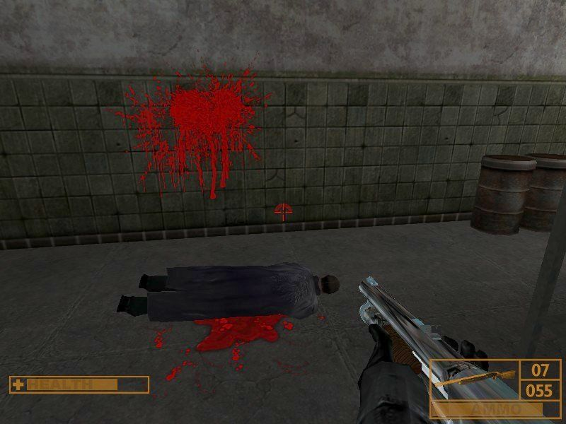 Sniper: Path of Vengeance Windows Special attention is given to bright crimson blood splatters.