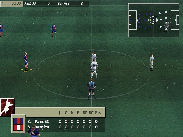 FIFA 99 Windows Just starting a new match.