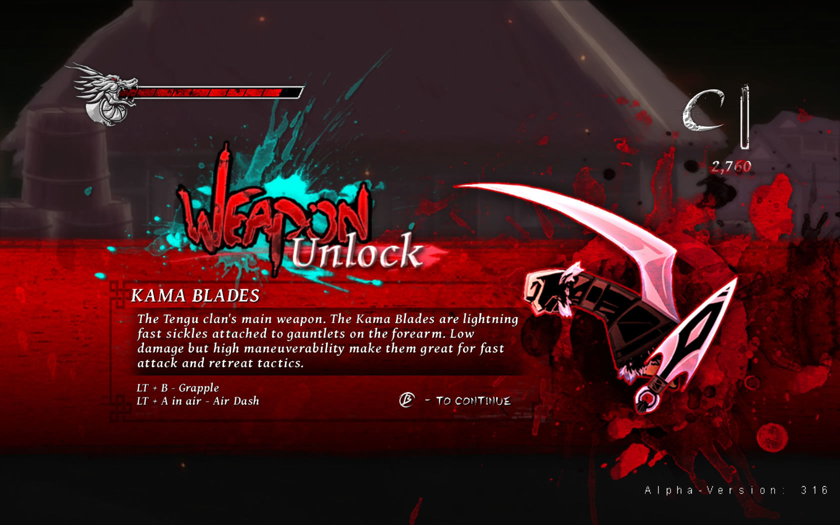 Onikira: Demon Killer Windows Additional weapons are found early on. (Alpha Version 316)