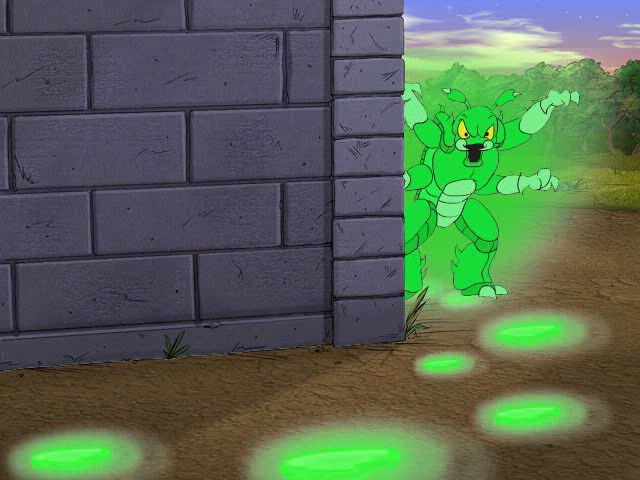 Scooby-Doo!: Case File #1 - The Glowing Bug Man Windows Bug Man next to the wall