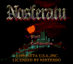 Nosferatu SNES Title Screen