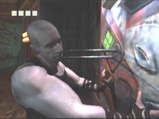 The Chronicles of Riddick: Escape from Butcher Bay Xbox The NanoMed station heals you by jamming metal spikes into your neck.  Yep.