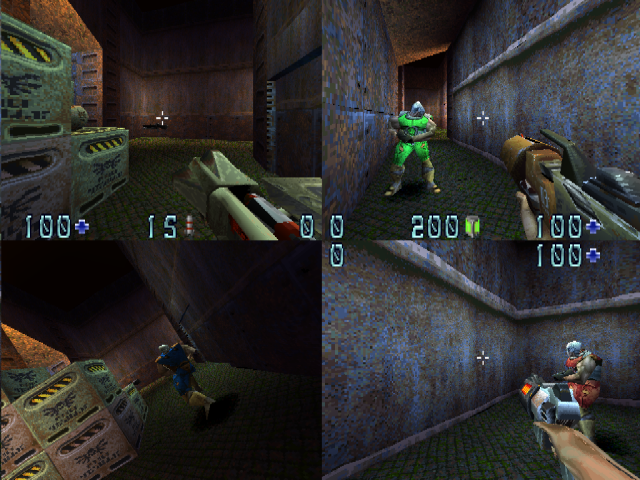 Quake II PlayStation Cold storage map, GoldenEye style multiplayer for up to 4 players