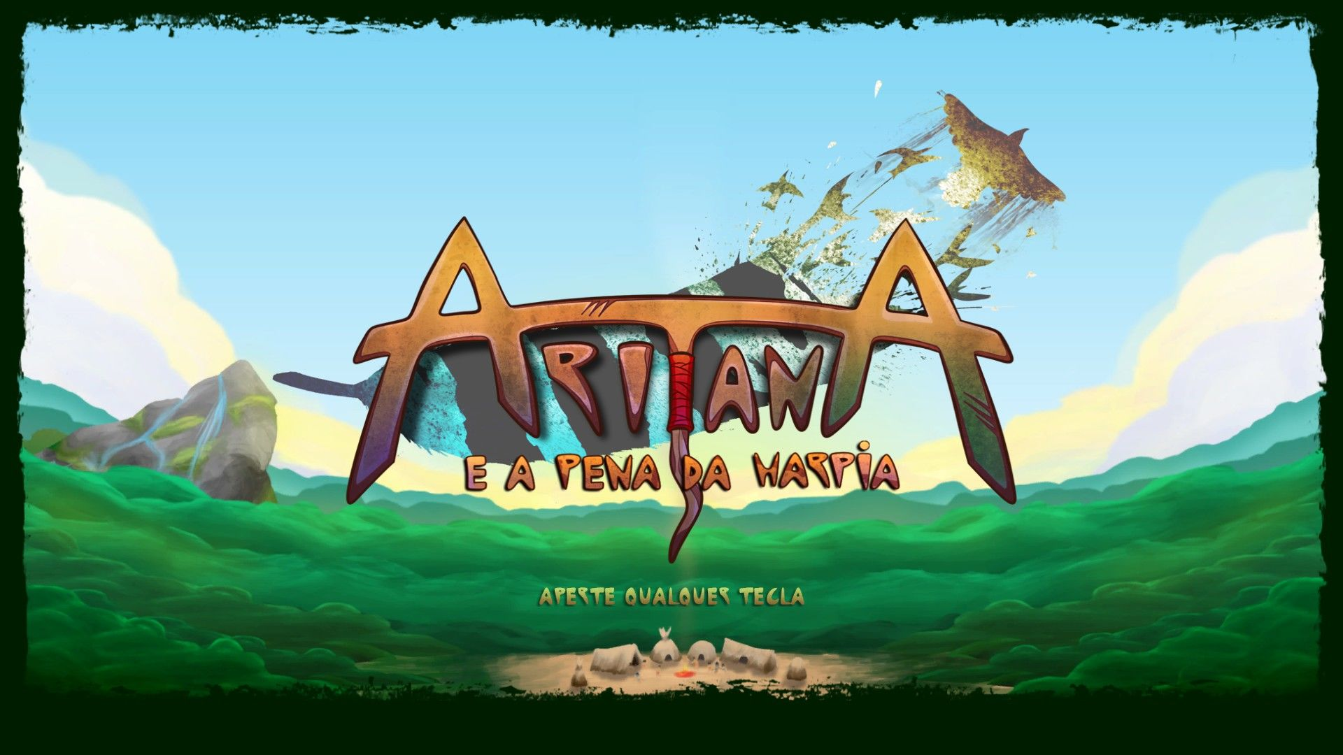Aritana and the Harpy's Feather Windows Title screen.