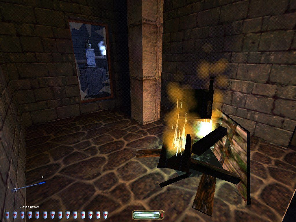 Thief II: The Metal Age Windows Lonely fire during the mission Life of the Party