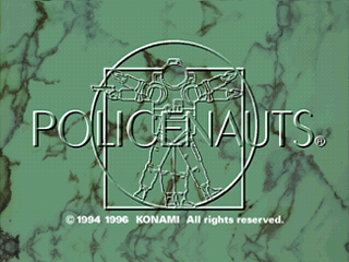 Policenauts SEGA Saturn Title Screen