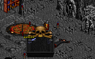 Pagan: Ultima VIII DOS After a battle against a tough sorcerer. Searching his body
