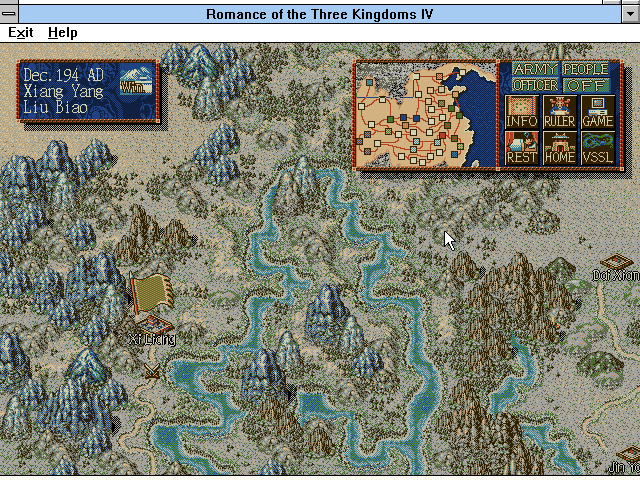 Romance of the Three Kingdoms IV: Wall of Fire Windows 3.x Down to business
