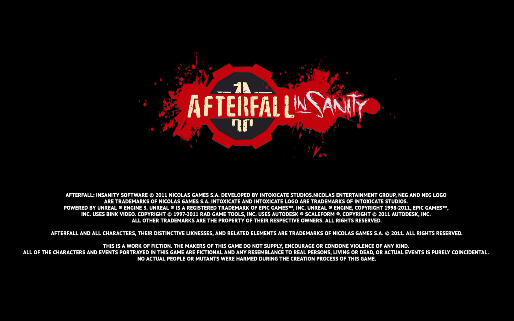 Afterfall: InSanity - Extended Edition Windows Loading screen