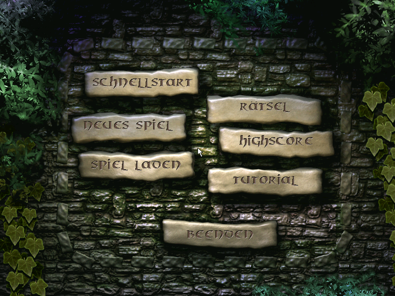 Das verrückte Labyrinth Windows Game menu