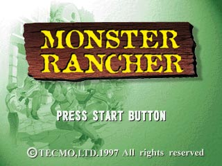 Monster Rancher PlayStation Title Screen