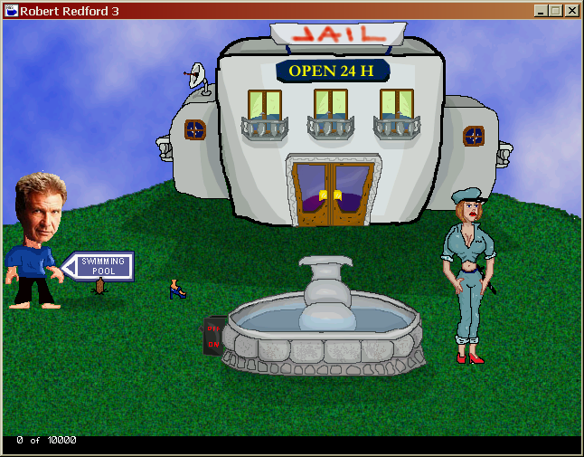 Robert Redford Saves the Day: Episode 3: Who Framed Roger Redford? Windows Beginning of the game. Unlike the previous parts, here the game comes bundled with a Flash animation which acts as the title screen and the intro