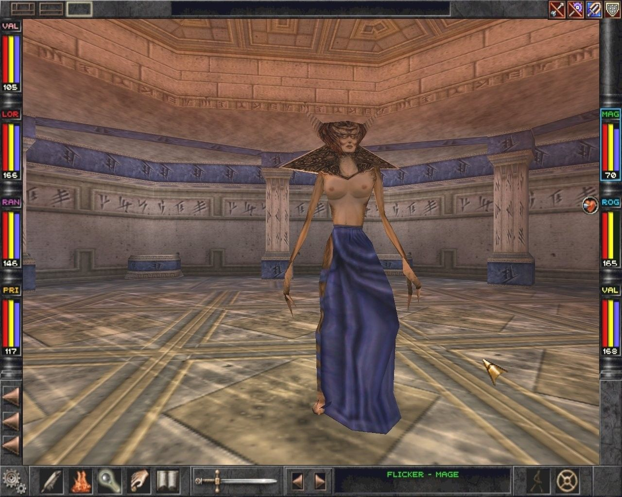 "Wizardry 8 Windows This evil lady's name is Al-Sedexus. She is one of the hardest ""bosses"" to beat."
