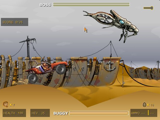 Codename: Gordon Windows A Buggy Race (and the first boss)