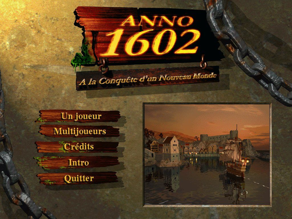 Anno 1602: Creation of a New World Windows Title screen.