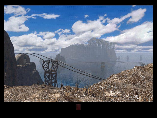 Riven: The Sequel to Myst Windows Those wires are actually a track for a transportation device