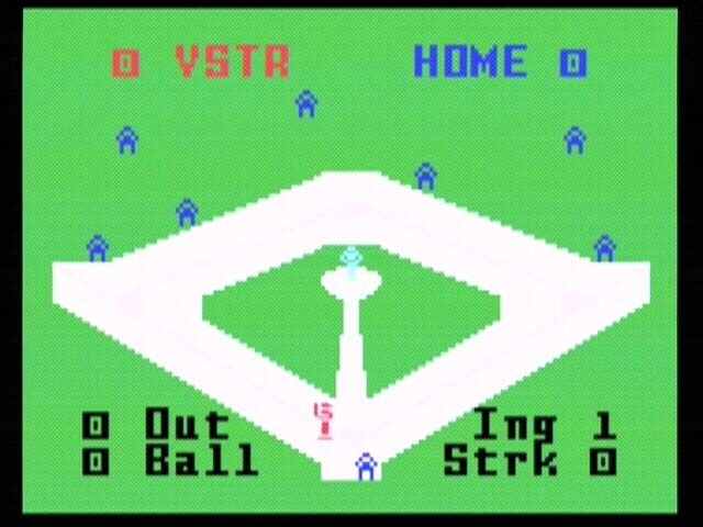 Intellivision Lives! Xbox World Championship Baseball, one of two baseball games.