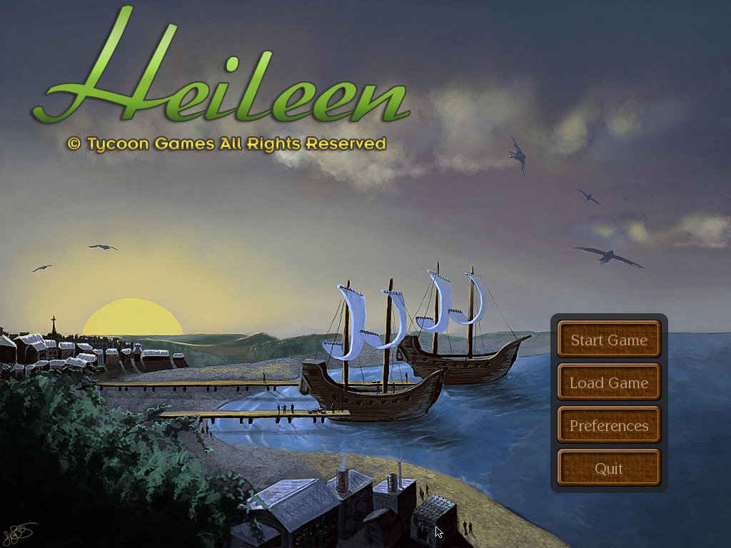 Heileen: Sail Away Windows Title screen.